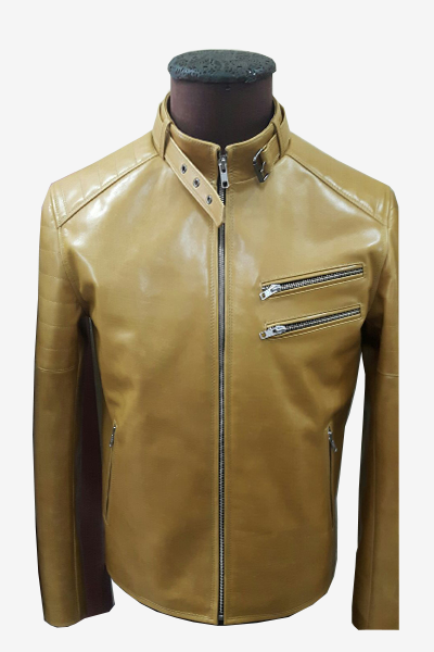 Caramel Racer Leather Jacket