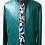 Thumbnail: Turquoise Racer Leather Jacket
