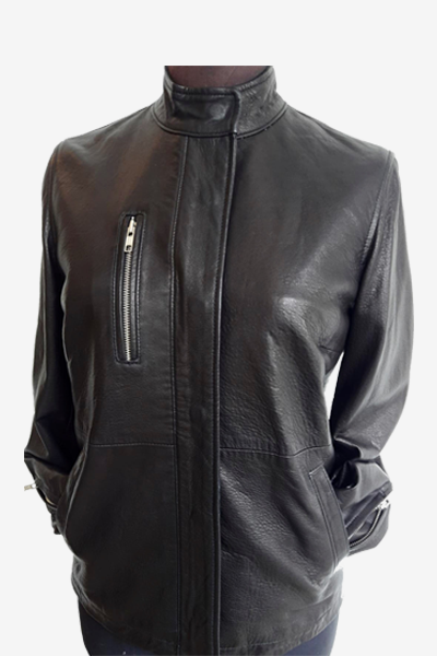 Spanish Washed Leather Jacket with Front Pocket