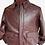 Thumbnail: Burgundy Aviator Leather Jacket