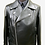 Thumbnail: Black Double Rider Biker Leather Jacket with Fasteners