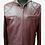 Thumbnail: Burgundy Cafe Racer Leather Jacket