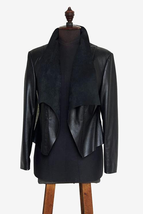Bespoke Italian Lambskin Leather Jacket without Zipper