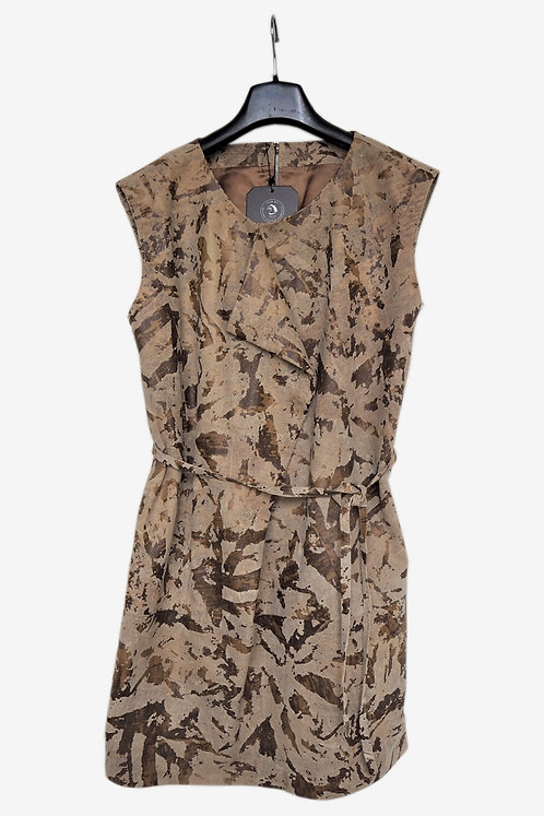 Bespoke Brown Patterned Fabric Dress