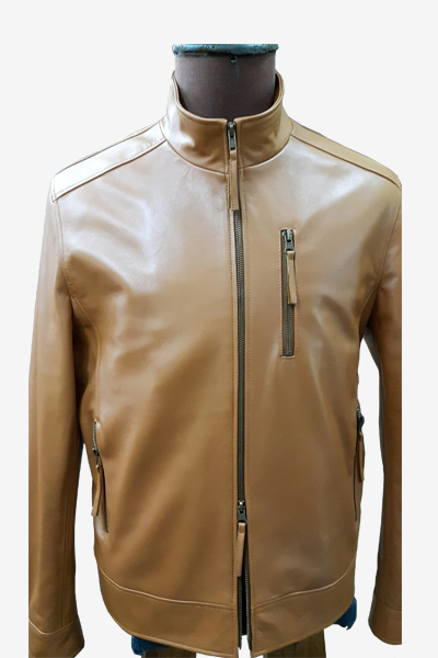 Brown Racer Leather Jacket