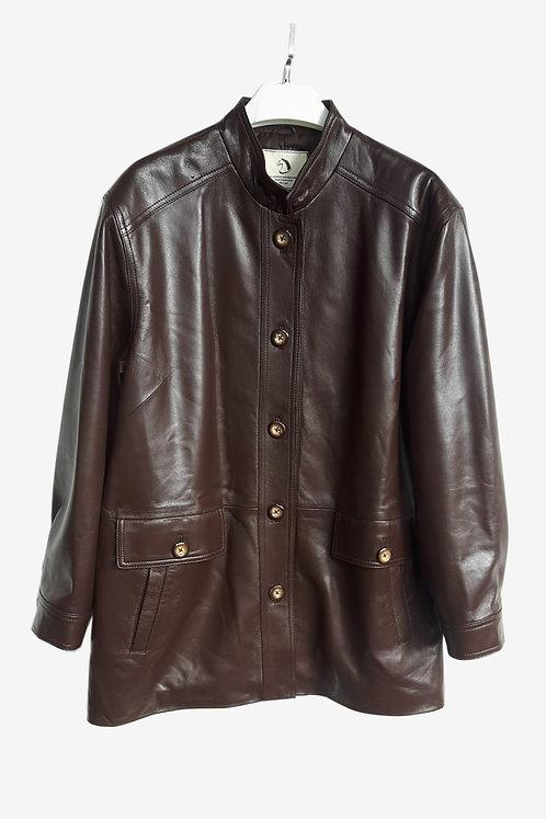Bespoke Brown Leather Jacket