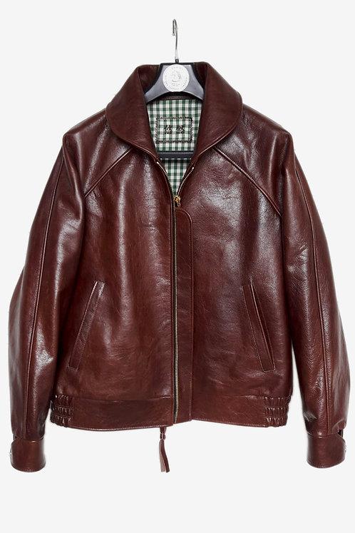 Bespoke Burgundy Calfskin Leather Jacket