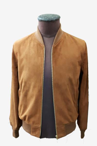 Brown Suede Leather Blazer