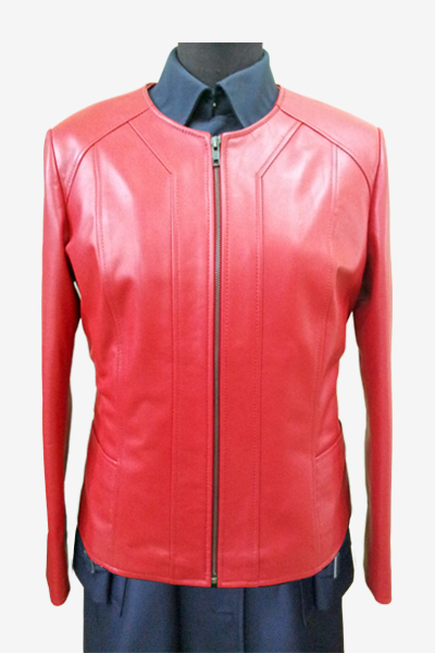 Red Leather Blouson