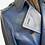 Thumbnail: Blue Leather Trench Coat with Storm Flap