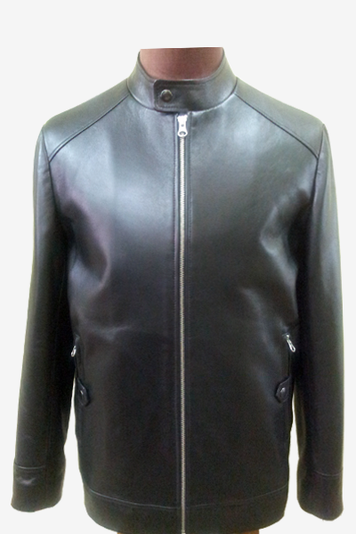 Black Leather Racer Jacket