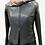 Thumbnail: Black Leather Blouson Jacket