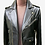 Thumbnail: Black Leather Biker Jacket with Fasteners and Belt