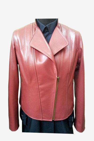 Rose Double Rider Biker Leather Jacket