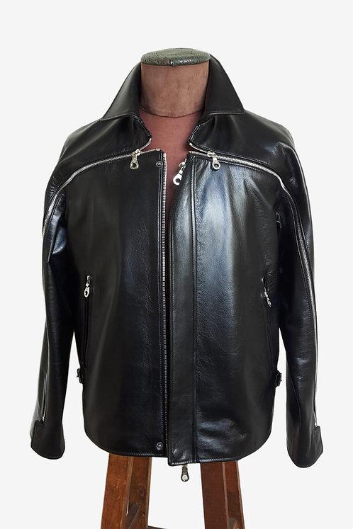 Bespoke Men's Italian Cowhide Leather Jacket