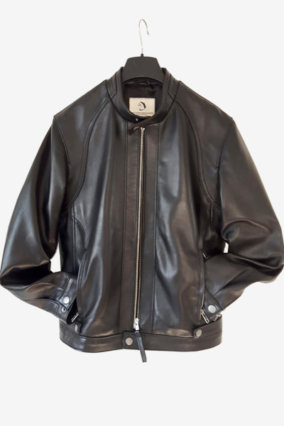 Bespoke Black Lambskin Leather Jacket