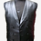 Thumbnail: Black Buttoned Leather Vest