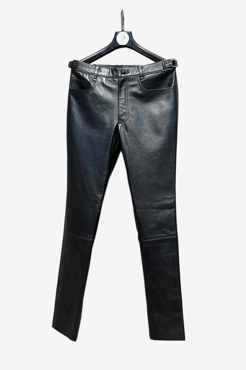 Bespoke Black Lambskin Leather Pants