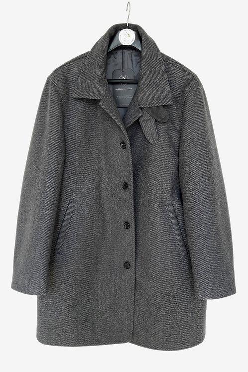 Bespoke Grey Flannel Half Coat