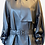 Thumbnail: Navy Lambskin Leather Trench Coat