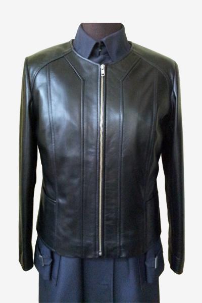 Black Leather Blouson