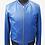 Thumbnail: Blue Leather Bomber Jacket