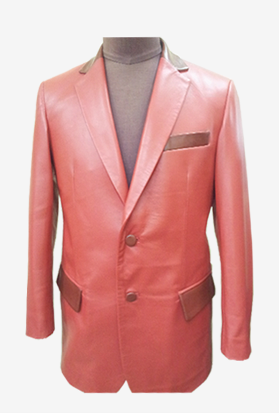 Red Leather Blazer