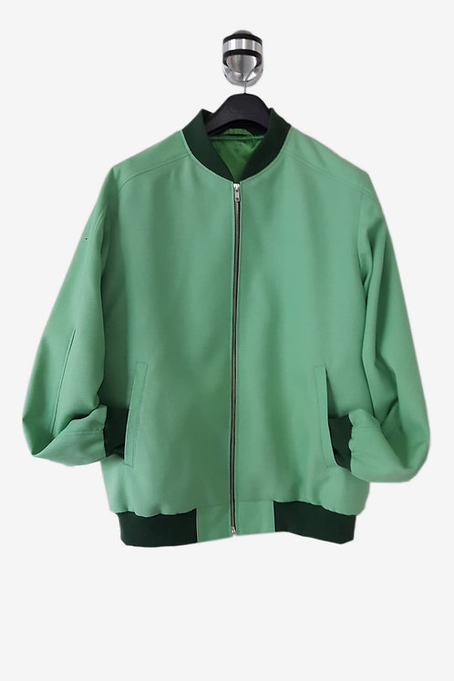 Bespoke Mint Men's Italian Cotton Bomber Jacket