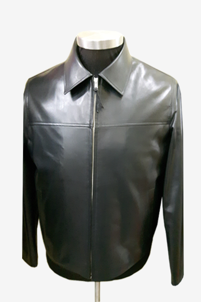 Black Blouson Leather Jacket