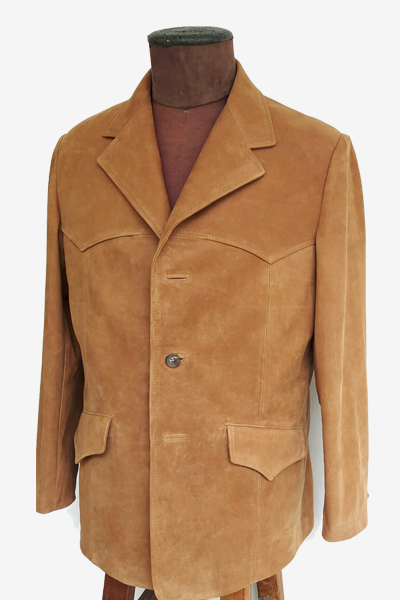 Brown Nubuck Leather Blazer