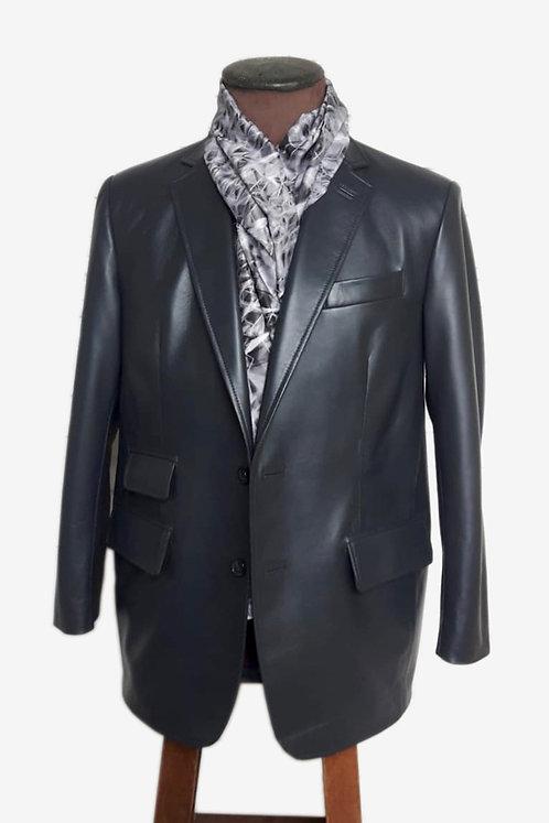 Bespoke Grey Lambskin Blazer