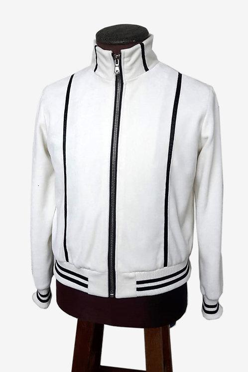 Bespoke Men's White Velvet Jacket