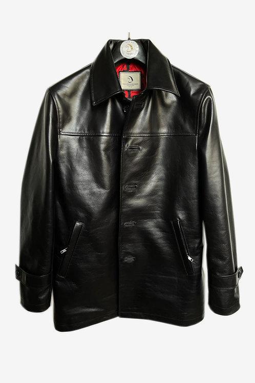 Bespoke Men's Black Lambskin Leather Jacket
