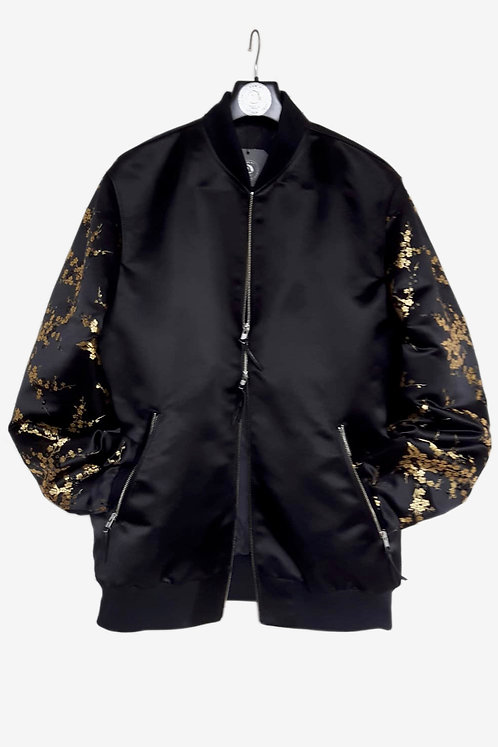 Bespoke Brocade and Wool Bomber Jacket