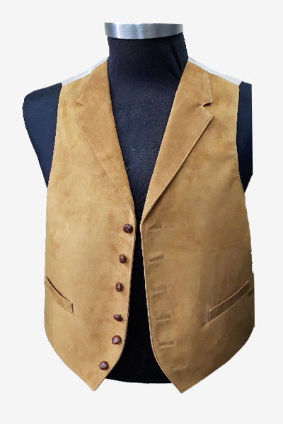 Brown Suede Leather Vest