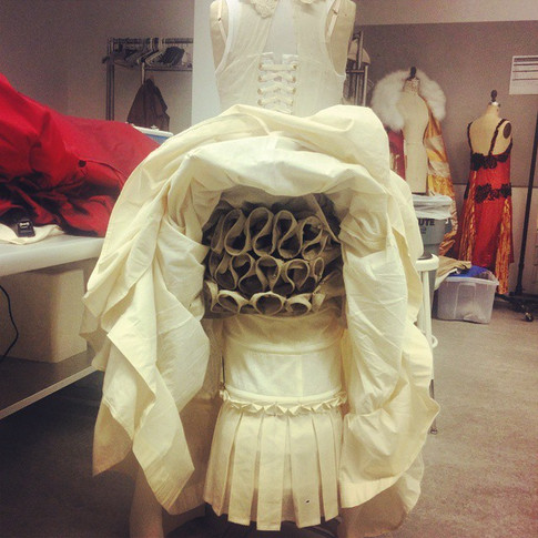 Ever wonder what a #Victorian lady was hiding under her skirts_ Here's a glimpse of my project for #costumedesign ....jpg