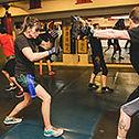 Striking practice in adult class