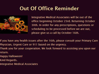 Out Of Office Reminder