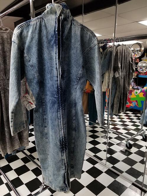 StoneWash Fitted Denim Dress