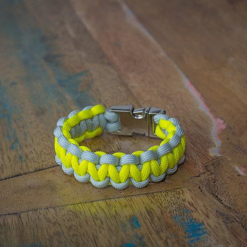 "Armband ""Solomon"" Silber-Grau/Neon-Gelb"