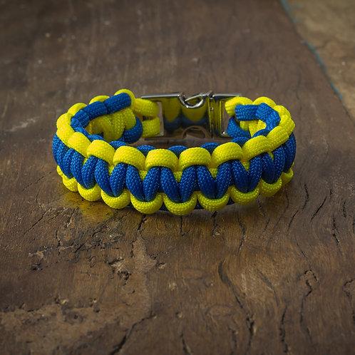 "Armband ""Solomon"" Neon-Gelb/Königsblau"