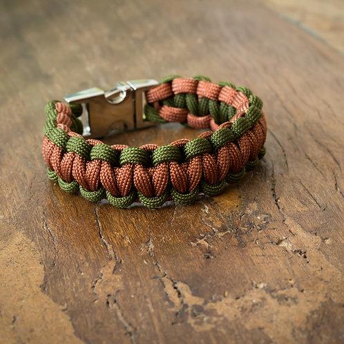 "Armband ""Solomon"" Camo-Grün/Rost"