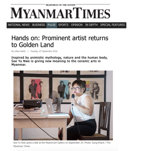 Hands on: Prominent artist returns to Golden Land