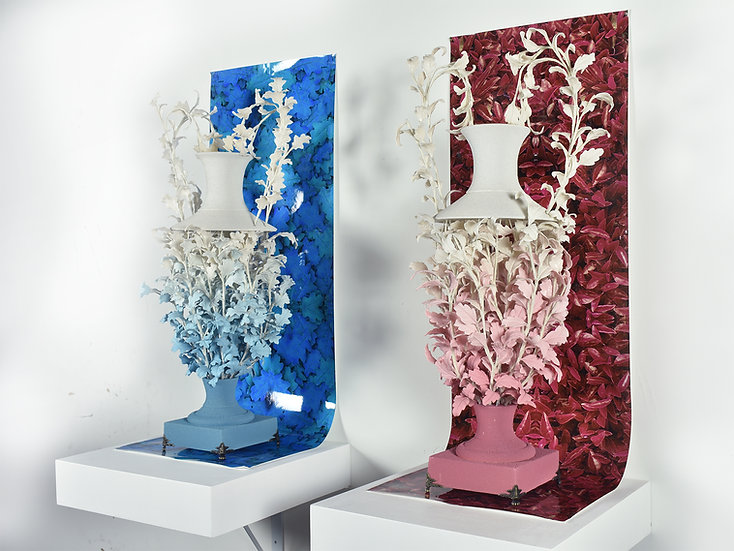 Colleen Toledano | Leaf Vase Commission (Smaller Him and Her)