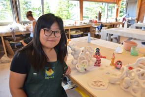 Soe Yu Nwe, 2017 Artaxis Fellow, at Haystack Mountain School of Crafts