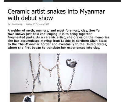 Ceramic artist snakes into Myanmar with debut show