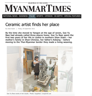 Ceramic artist finds her place, Myanmar Times