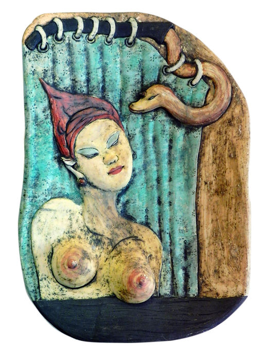 Woman and Curtain (with snake).jpg