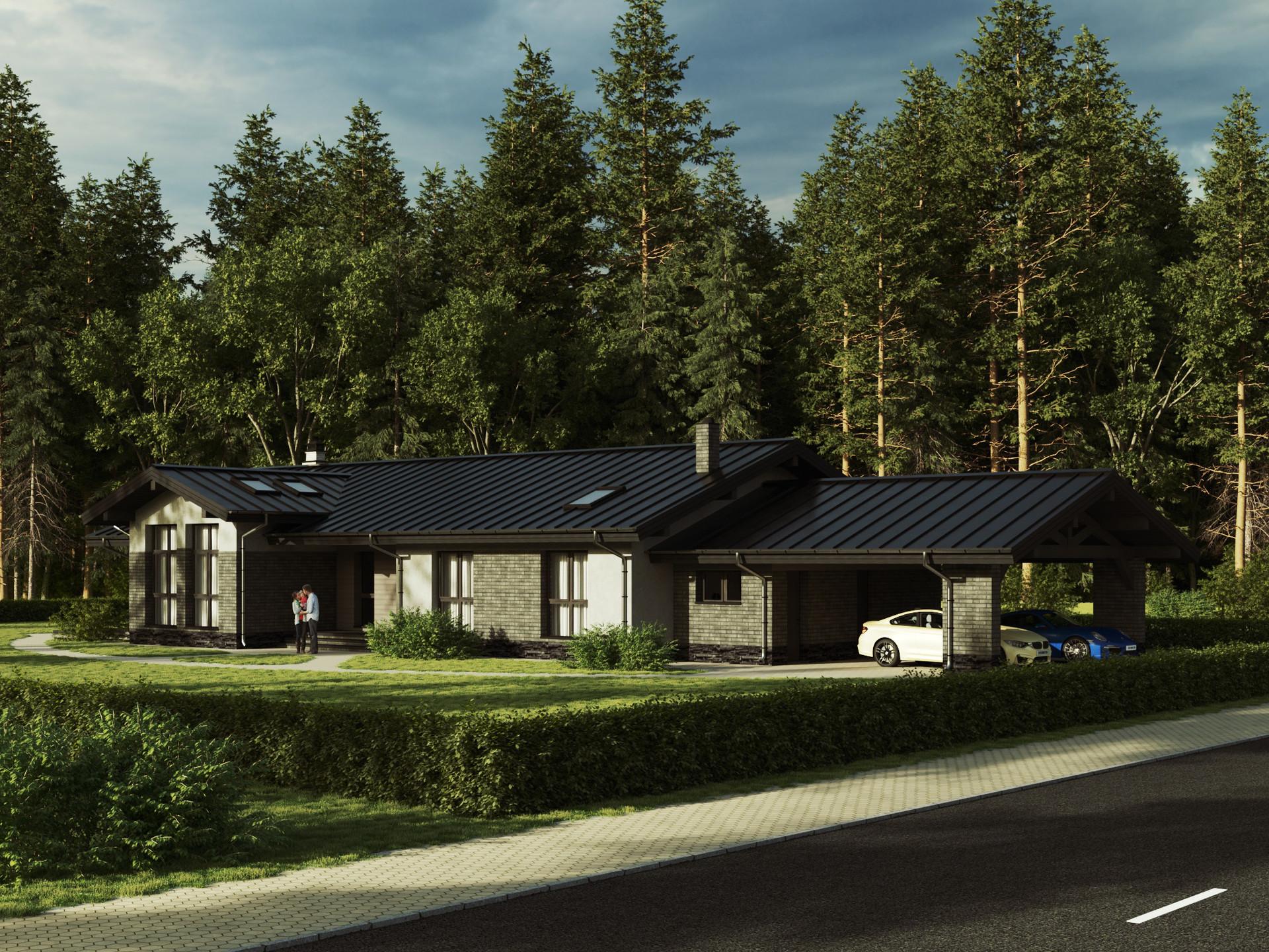 Одноэтажный жилой дом