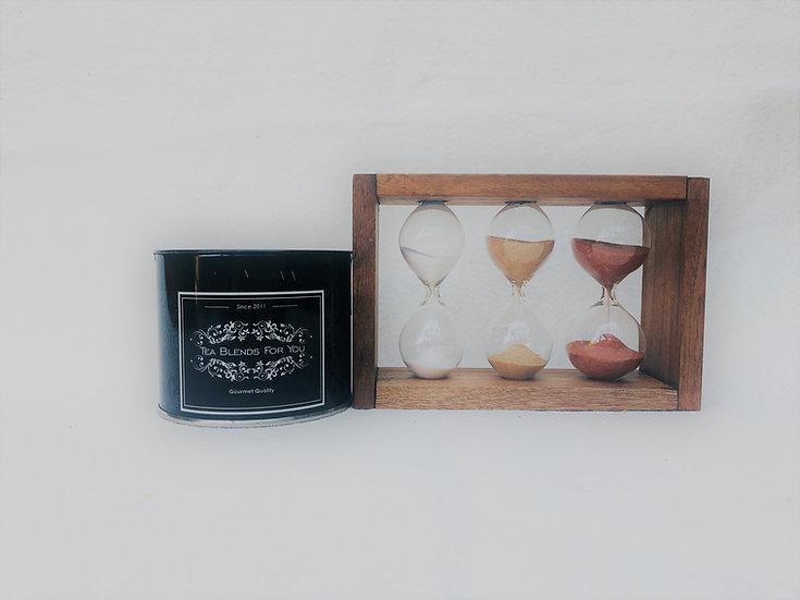Reloj de arena de madera triple